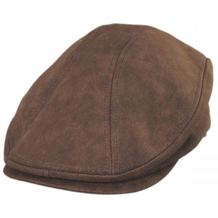 Dorfman Pacific Company Weathered Faux Leather Ivy Cap