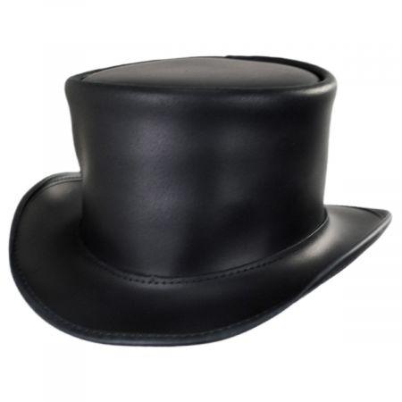 El Dorado Leather Unbanded Top Hat alternate view 1