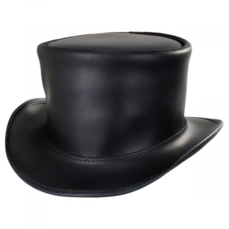 El Dorado Leather Unbanded Top Hat alternate view 17