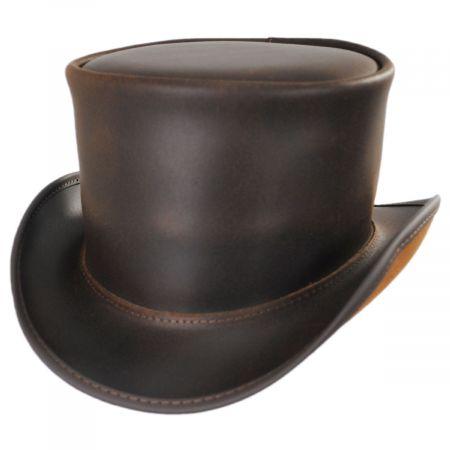 El Dorado Leather Unbanded Top Hat alternate view 13