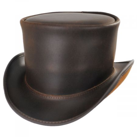 El Dorado Leather Unbanded Top Hat alternate view 29
