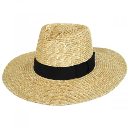 Joanna Honey Wheat Straw Fedora Hat