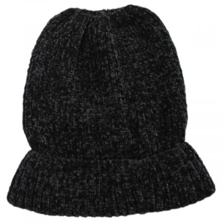 Dorfman Pacific Company Chenille Ponytail Beanie Hat