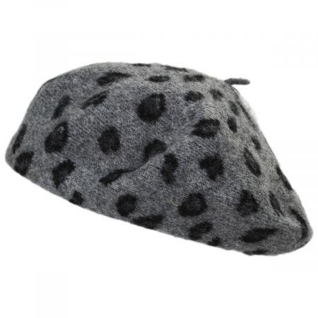 San Diego Hat Company Leopard Wool Beret