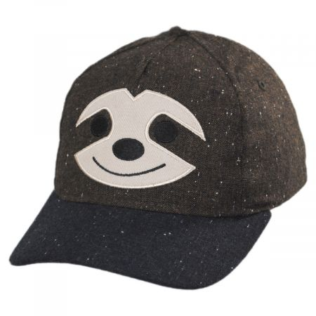 San Diego Hat Company Kids Smiling Sloth Baseball Cap