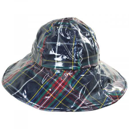 San Diego Hat Company Plaid Wide Brim Rain Hat