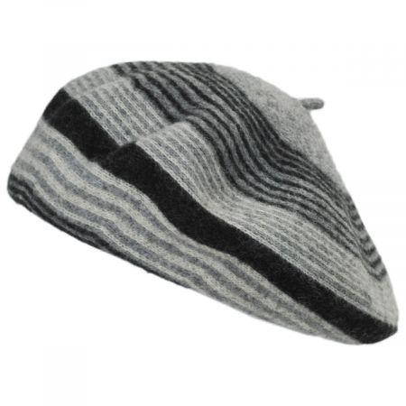 Stripe Wool Beret alternate view 1