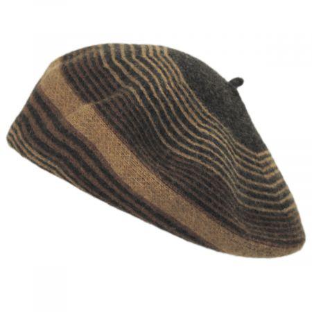 San Diego Hat Company Stripe Wool Beret