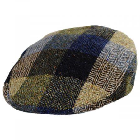 Herringbone Squares Donegal Tweed Wool Ivy Cap