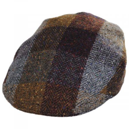 Herringbone Squares Donegal Tweed Wool Ivy Cap alternate view 21