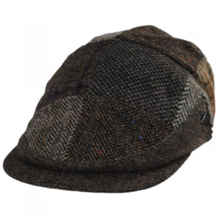 Patchwork Donegal Tweed Wool Ivy Cap