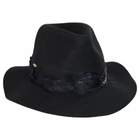 Scala Marsala Wool Felt Fedora Hat