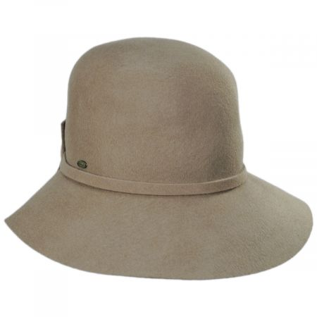 Scala Sciacca Crushable Wool Felt Cloche Hat