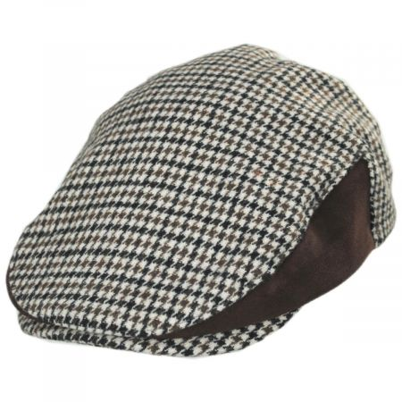 Brixton Hats Hooligan II Tweed and Suede Wool Blend Ivy Cap