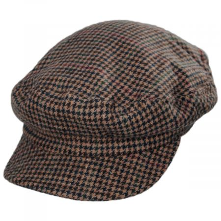 Brixton Hats Unstructured Plaid Wool Blend Fiddler Cap