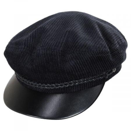 Brixton Hats Leather Bill Cotton Fiddler Cap