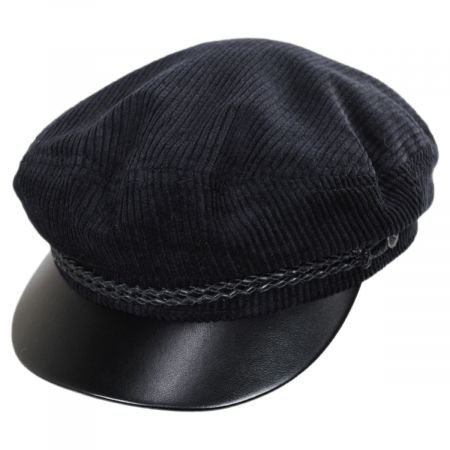 Brixton Hats Leather Bill Cotton Fiddler Cap