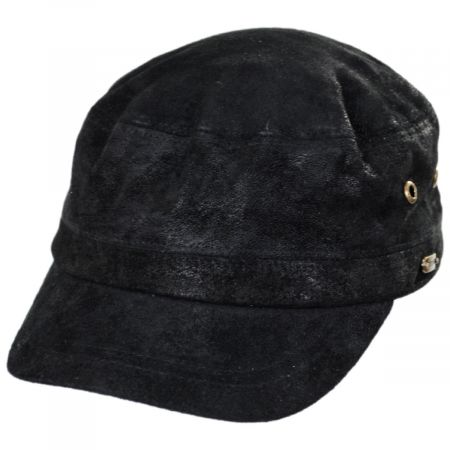 Weathered Leather Cadet Cap alternate view 1