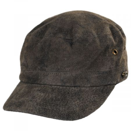 Stetson Weathered Leather Cadet Cap