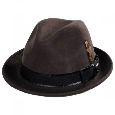 Stacy Adams Westland Wool Felt Fedora Hat