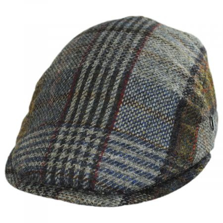 City Sport Caps Donegal Tweed Wool Plaid Overcheck Ivy Cap