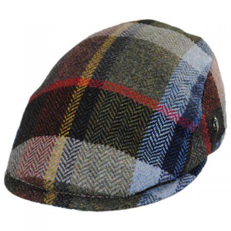 City Sport Caps Donegal Tweed Wool Herringbone Patchwork Plaid Ivy Cap