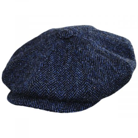 City Sport Caps Harris Tweed Herringbone Wool Newsboy Cap