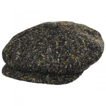 City Sport Caps Donegal Tweed Marl Wool Newsboy Cap