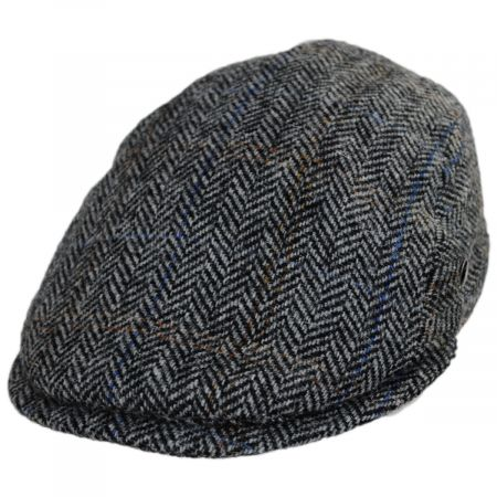 City Sport Caps Harris Tweed Overcheck Herringbone Wool Ivy Cap