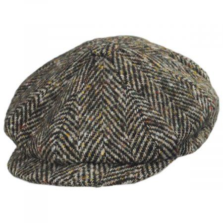 City Sport Caps Donegal Tweed Large Herringbone Wool Newsboy Cap
