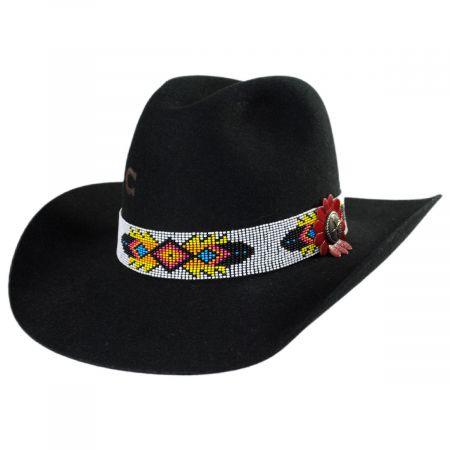 Raven Wool Felt Western Hat