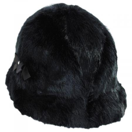 Suzette Faux Fur Cloche Hat