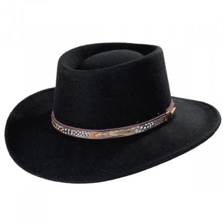 Kelso Crushable Wool Felt Gambler Western Hat