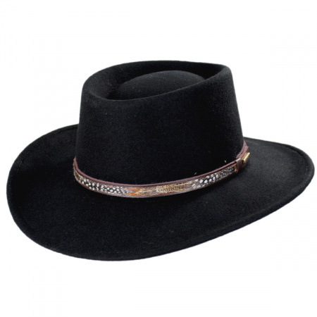 Kelso Crushable Wool Felt Gambler Western Hat alternate view 9