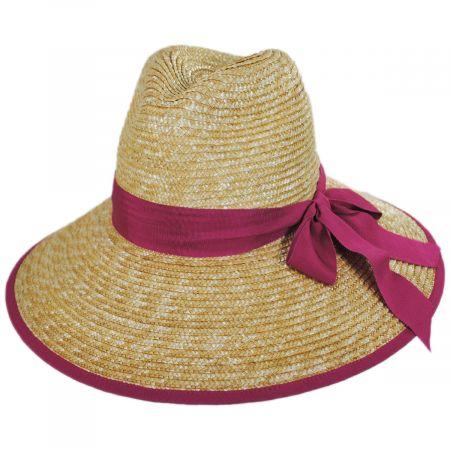 Celine Milan Straw Downbrim Fedora Hat alternate view 2