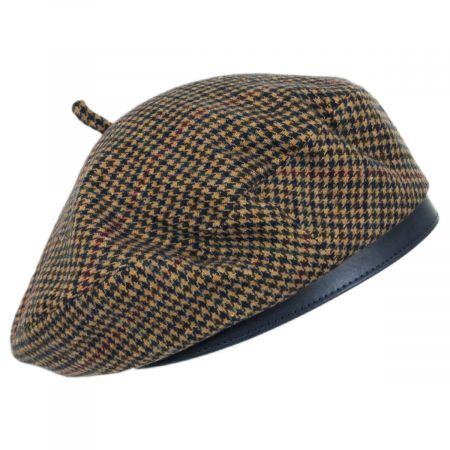 Brixton Hats Audrey II Plaid Wool Blend Beret