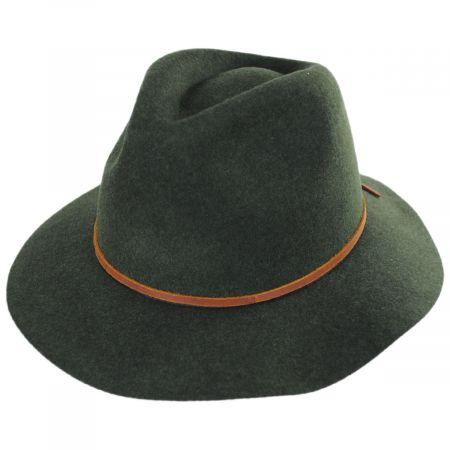 Brixton Hats Wesley Heathered Wool Felt Floppy Fedora Hat