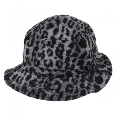 Brixton Hats Hardy Leopard Wool Blend Bucket Hat
