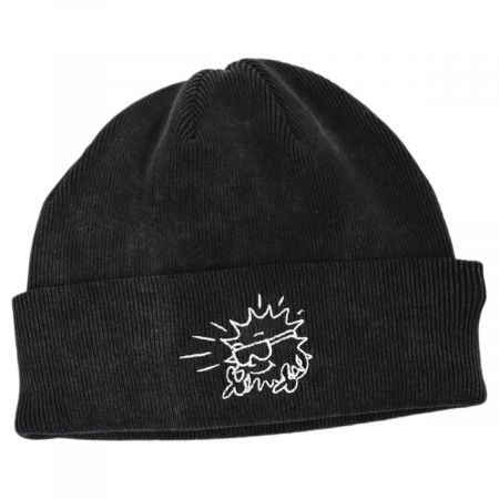 Nowhere Cotton Knit Embroidered Beanie Hat