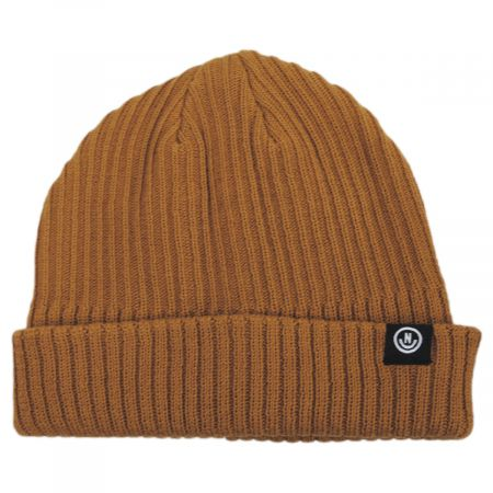 Fisherman Rib Knit Cotton Blend Beanie Hat alternate view 1