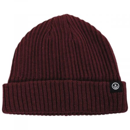 Fisherman Rib Knit Cotton Blend Beanie Hat alternate view 5