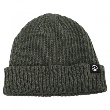Fisherman Rib Knit Cotton Blend Beanie Hat alternate view 3