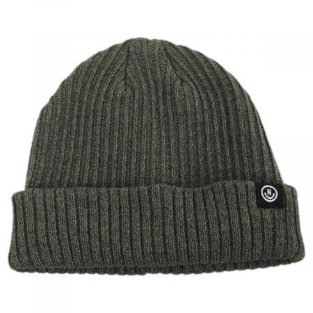 Neff Fisherman Rib Knit Cotton Blend Beanie Hat