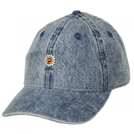 Larry Acid Flower Embroidered  Strapback Baseball Cap Dad Hat alternate view 1