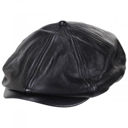 Brixton Hats Brood Leather Newsboy Cap