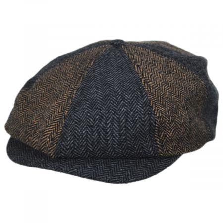 Brixton Hats Brood Herringbone Newsboy Cap