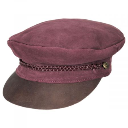 Brixton Hats Kayla Leather Suede Fiddler Cap