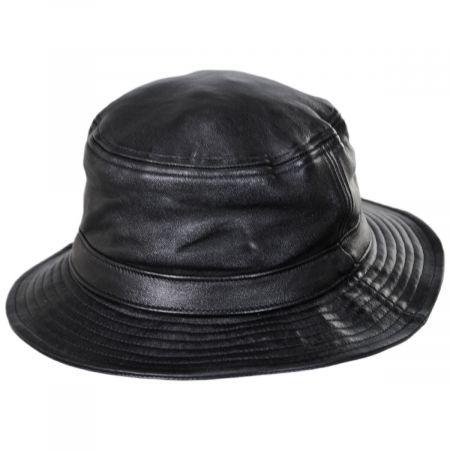 Brixton Hats Mathews Genuine Leather Bucket Hat