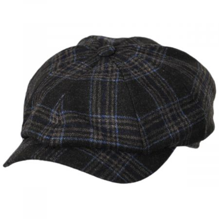 Classic Plaid Wool and Silk Blend Newsboy Cap alternate view 9