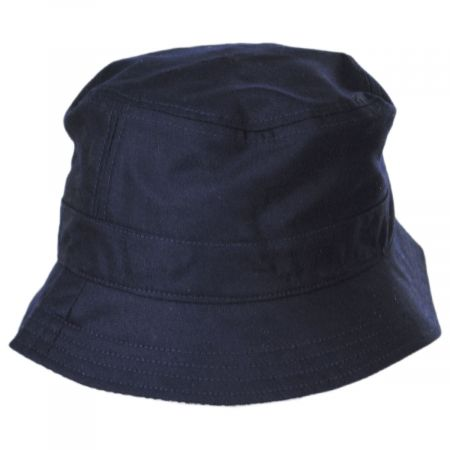 Houndstooth Reversible Cotton and Wool Blend Bucket Hat